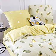 """Двоспальний комплект (Бязь)   Постільна білизна від виробника """"Королева Ночі""""   Ананаси на жовтому, фото 2"""