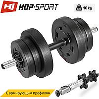 Гантеля композитная Hop-Sport 10кг PRO