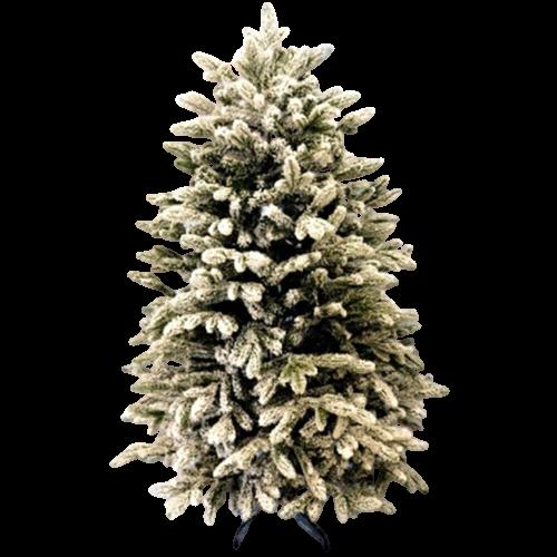 Новогодняя Искусственная Елка «Санта-премиум — 2 заснеженная» 1.8 м   130 см. из пластика