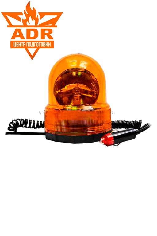 Проблесковый маячок оранжевого цвета на 12 или 24 В