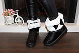 Угги женские зимние черные с белой опушкой С959, фото 5