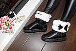 Угги женские зимние черные с белой опушкой С959, фото 6