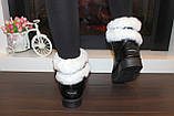 Угги женские зимние черные с белой опушкой С959, фото 7
