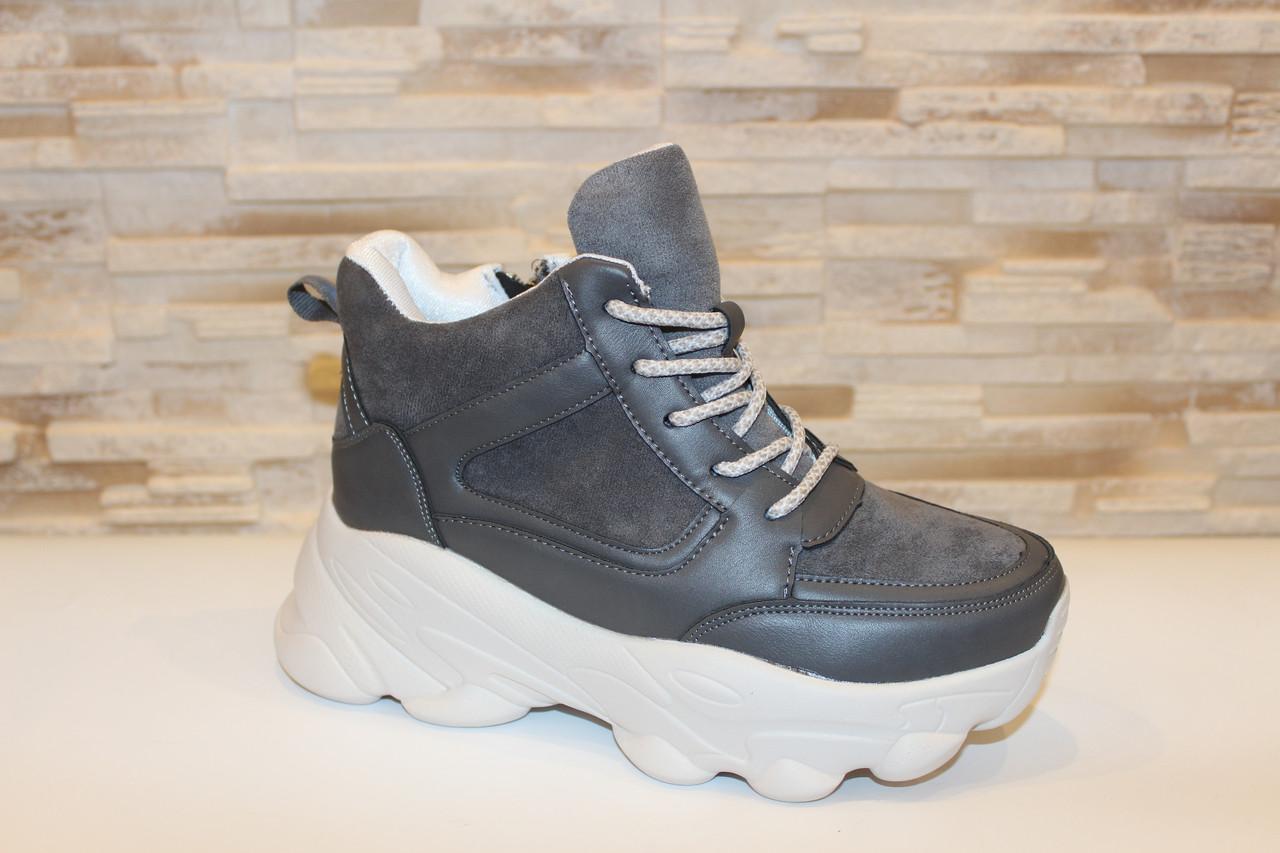 Кросівки жіночі сірі Т1191