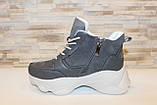 Кросівки жіночі сірі Т1191, фото 2