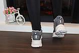 Кросівки жіночі сірі Т1191, фото 3