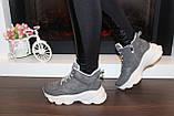 Кросівки жіночі сірі Т1191, фото 4