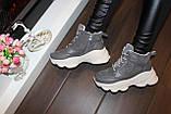 Кросівки жіночі сірі Т1191, фото 5