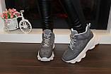 Кросівки жіночі сірі Т1191, фото 6