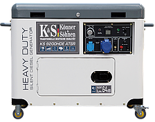 Дизельный генератор Konner&Sohnen KS 9200HDE ATSR (6.8 кВт, 220V, электростартер)