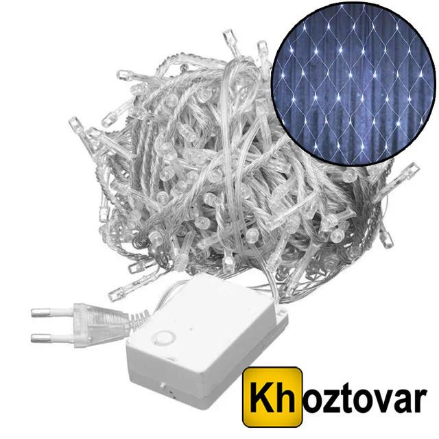 Новорічна гірлянда-сітка Xmas | 200 ламп | 2x2 метри
