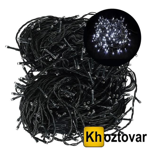 Новорічна гірлянда   Чорний дріт   200 ламп   15 м