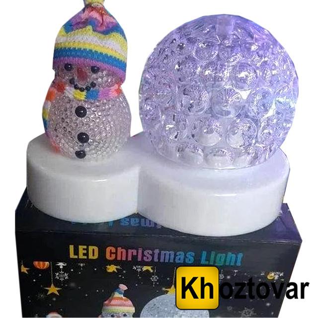 Новогодний LED cветильник ночник со снеговиком XX 165