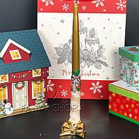 """Підсвічник новорічний """"Бант"""", золотий, 6 см, Новогодний подсвечник """"Бант"""" 727-210, фото 2"""