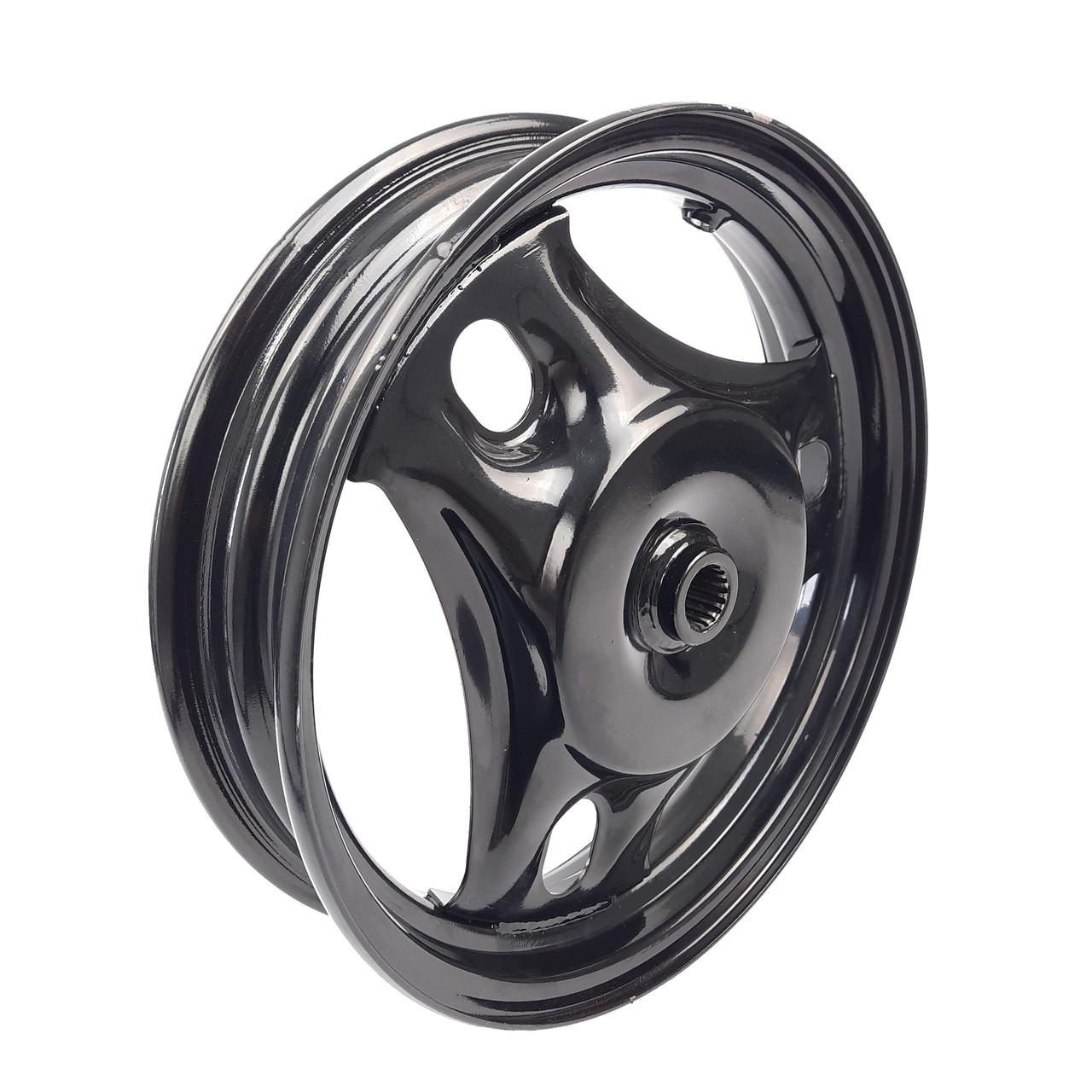 Диск колеса задний 2.50*10 SUZUKI LETS 1/2/3, AD100 колодки 110мм черный