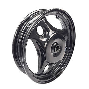 Диск колеса задний 2.50*10 SUZUKI LETS 1/2/3, AD100 колодки 110мм черный, фото 2