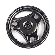 Диск колеса задний 2.50*10 SUZUKI LETS 1/2/3, AD100 колодки 110мм черный, фото 3