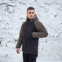 "Парка зимова Pobedov ""seniora udacha"" хакі, фото 1"