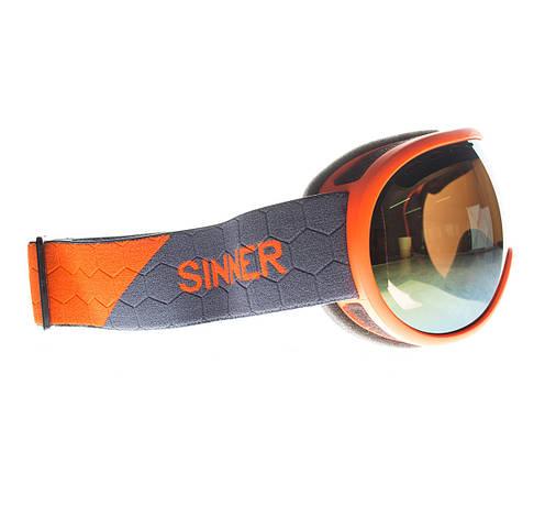 Маска гірськолижна Sinner VORLAGE Matte Orange-Full Orange Mir, фото 2