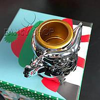 """Підсвічник новорічний """"Сова"""", срібний, 7 см, Новогодний подсвечник """"Сова"""" 727-334, фото 2"""