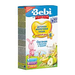 Молочна каша Bebi Premium Вівсяна з бананом і грушею, 6+, 200г