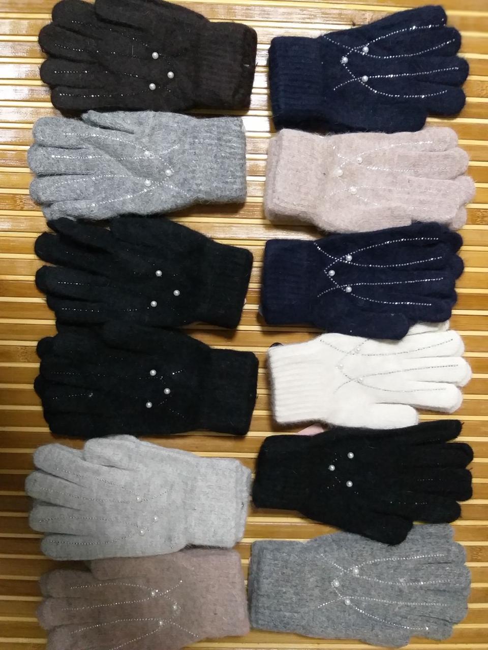 Перчатки женские шерсть ангора Турция