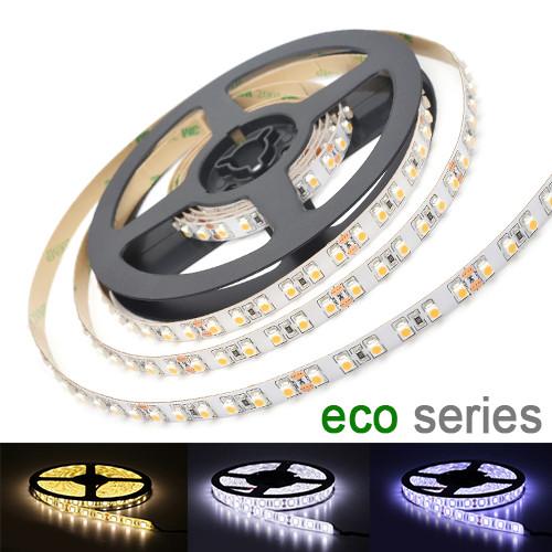 LED лента 3528 120 led/m 9,6W/m IP20 12V теплый, нейтральный, холодный белый серия eco