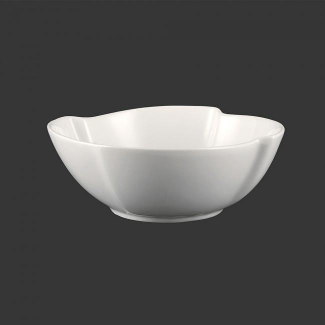 Салатник фарфоровый фигурный белый 170мм