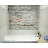 Карниз для ванной комнаты Tatkraft Lord телескопический 140х260 см (17412), фото 6