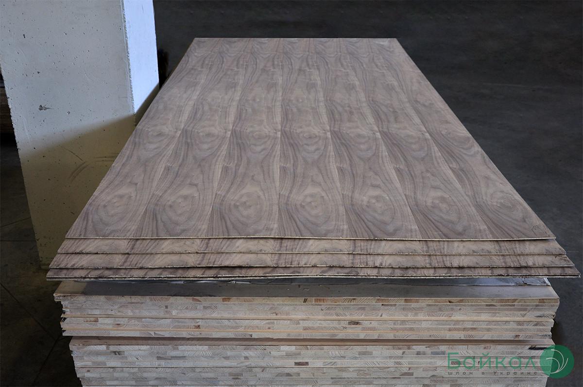 Фанера покрытая шпоном Ореха Американского — 10 мм 2,5х1,25 м