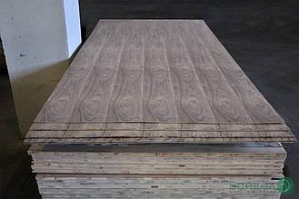 Фанера покрита шпоном Американського Горіха — 10 мм 2,5х1,25 м