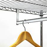 Стойка для одежды с двумя полками и штангой для вешалок в комплекте с чехлом Art moon BUFFALO BEIGE 699898, фото 3