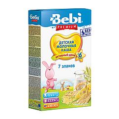 Молочна каша Bebi Premium 7 злаків, 6+, 200г