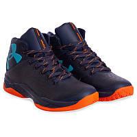 Кроссовки баскетбольные мужские Under Armour (р-р 41-45, сине-оранжевый) Реплика, фото 1
