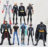 Набор Персонажи вселенной DC Супергерои 9 шт Мстители Бетмен Аквамен Капитан Атом