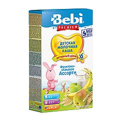Молочна каша Bebi Premium Фруктово-злакове асорті, 6+, 250г
