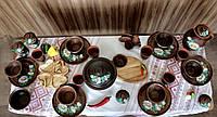 """Набор глиняной посуды на 6 персон Ромашка №9 """"Для первых блюд"""", фото 1"""