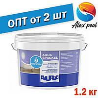 Aura Luxpro Aqua Spackel 1,2 кг, белая - Влагостойкая акриловая шпатлевка для внутренних и наружных работ