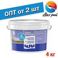 Aura Luxpro Aqua Spackel 4 кг, белая - Влагостойкая акриловая шпатлевка для внутренних и наружных работ