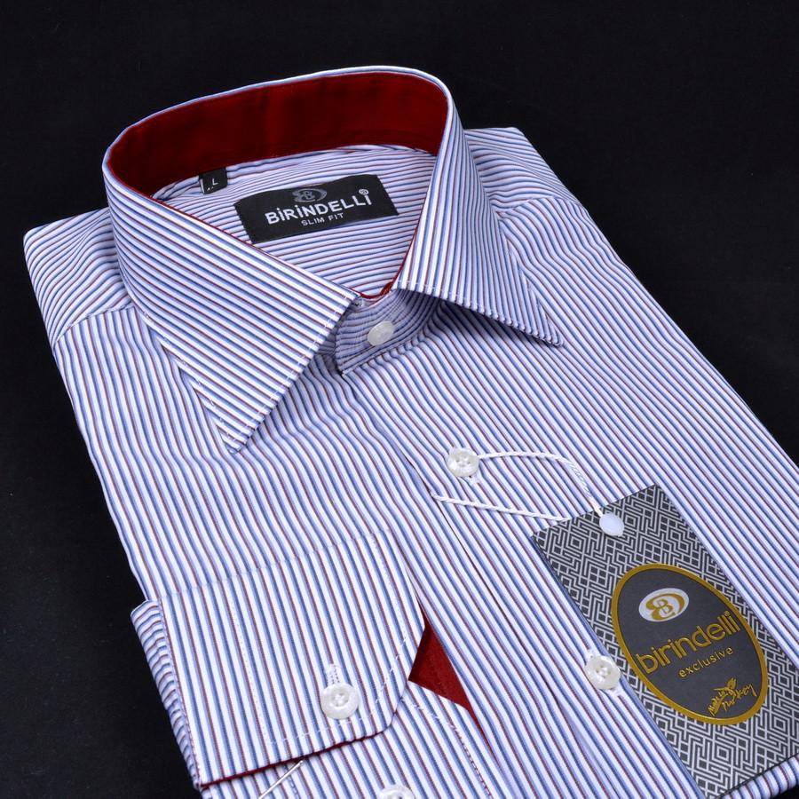 Сорочка чоловіча, прямого крою з довгим рукавом Birindelli 03-418 80% бавовна 20% поліестер M(Р)