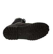 Берцы (ботинки с высокими берцами)  кожа Скорпион бортопрошивные НАТО Лето вставка ткань черные, фото 3