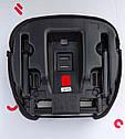 Автокресло-бустер серое с креплением изофикс и подстаканником Carrello Flex от 4 до 12 лет (15-36кг), фото 4