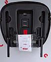Автокресло-бустер серое с креплением изофикс и подстаканником Carrello Flex от 4 до 12 лет (15-36кг), фото 3