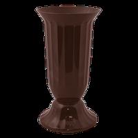 Ваза пластм. Флора 51 см темно-коричнева