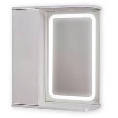 Зеркальный шкаф с LED подсветкой ШК604 (600х700х150) дверь слева