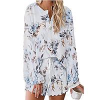 Пижама:кофта и шорты,Тёплая пижама , пижама женская..Свитшот и шорты