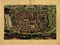Старинная карта Иерусалима 150см х 200см