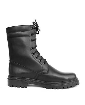 Берцы (ботинки с высокими берцами) кожа Скорпион бортопрошивные НАТО Зима (Мех) черные, фото 2
