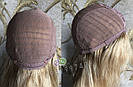 💎Натуральный женский парик золотистый с чёлкой, натуральный волос 💎, фото 7