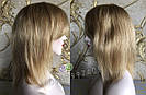 💎Натуральный женский парик золотистый с чёлкой, натуральный волос 💎, фото 8